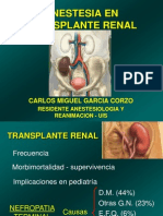 Anestesia en Transplante Renal Cmgc