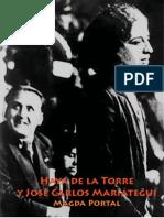 Haya de la Torre y José Carlos Mariátegui por Magda Portal
