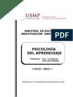 Lectura Psicología del Aprendizaje -Dra. SITO USMP - 2012 I