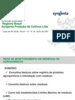 1 Rede de Monitor Amen To de Residuos Da Aplicacao de Agroquimicos