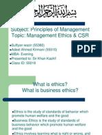 Management Ethics & Csr Final