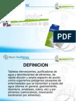 BAYER AQUATABS Aquatabs Presentacion Purificacion de Agua