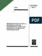 Ensayo Particulas Finas 0259-1977