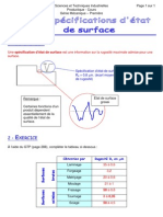 Les Specifications Etat de Surface