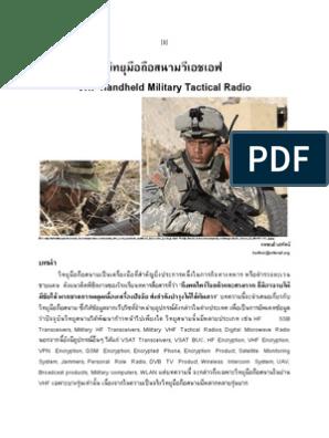 VHF Handheld Military Tactical Radio