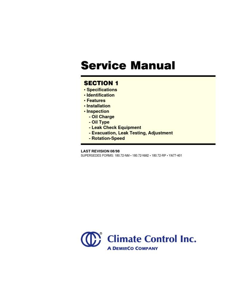 York Compressor Service Manual | Belt (Mechanical) | Leak