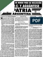 Patria Argentina numero 91-105
