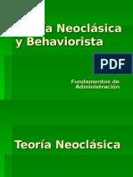 Teoria Neoclasica y Behaviorista