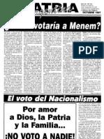 Patria Argentina numero 121-135