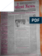 Employment News epaper | Rojgar Samachar | रोजगार समाचार New Delhi Edition 7 - 13 April 2012 Vol. XXXVII No. 1