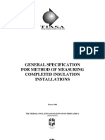 General Specs for Method of Measuring