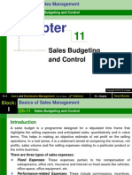 Chapter 11 Sales Budgeting and Control-Sales and Distribution Management (1)