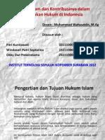 Hukum Islam Dan Kontribusinya Dalam Penegakan Hukum Di
