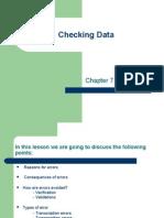 Checking Data