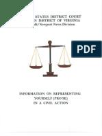 Norfolk Newport News Division Pro Se Litigant Handbook