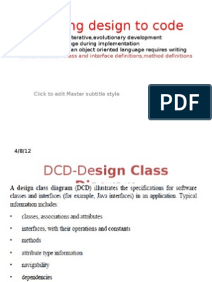 Mapping Design to Code | Class (Computer Programming