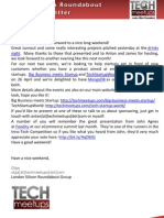 London Silicon Roundabout Weekly Newsletter 06-April-2012