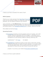 New York Silicon Alley Weekly Newsletter 06-April-2012