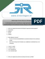 803_SIR - Oefenvragen HRM