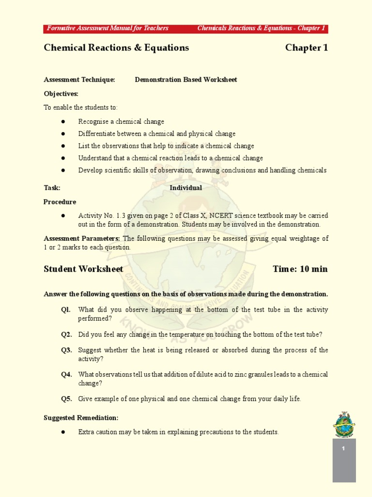 CBSE Class X Science Page 1 30 Acid – Acids Bases and Salts Worksheet