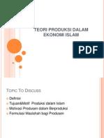 Teori Produksi Dalam Ekonomi Islam-1
