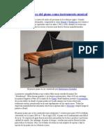El valor histórico del piano como instrumento musical