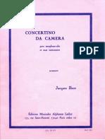 Ibert Concertino Da Camera [Saxo Alto]