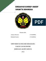 Paper Penerapan Kebijakan Green Economy Di Indonesia