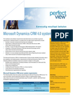 Technische Vereisten Microsoft Dynamics CRM