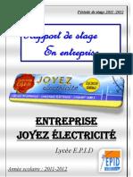 Rapport entreprise Joyez electricité