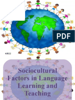 Sociocultural Factors in Language Acquisition and Learning