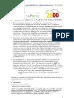 Recomendaciones La Ciudad Verde y Combo2600 al Plan de Desarrollo de Bogotá