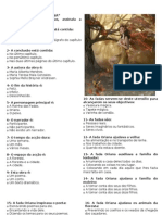 TESTE DE LÍNGUA PORTUGUESA fada oriana 5º ano