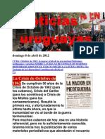 Noticias Uruguayas Domingo 8 de Abril de 2012