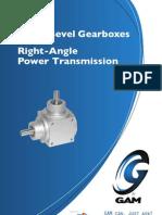 Gam Spiral Bevel Gearbox Catalog