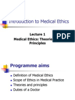 Intro Med Ethics 4 Th Year