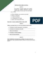 Contabilidade - 1ª Lista de exercícios