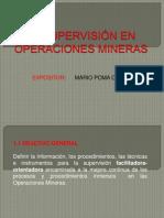 LA SUPERVISIÓN EN OPERACIONES MINERAS