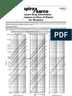 Pressure Drop  - perda de carga em filtro Y-