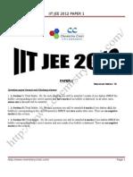 Iit Jee 2012 Paper 1 Solutions