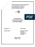 Activity Based Costing Project