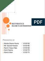 Mathmatics Presentation