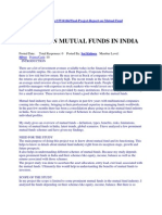 A Study on Mutual Funds in India