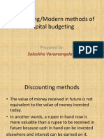 Discounting or Modern Methods of Capital Budgeting