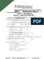 IIT JEE2012MathsIIQuestionsSolutions