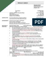 Becca Spitzer Resume
