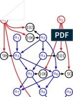Graphical model view of simple pedigree based mixed model example