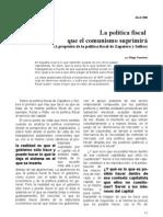 La política fiscal que el comunismo suprimirá (A propósito de la política fiscal de Zapatero y Solbes)
