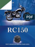 Manual Moto RC150