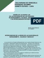 Interconexión de redes Barquisimeto, Valencia y Maracay